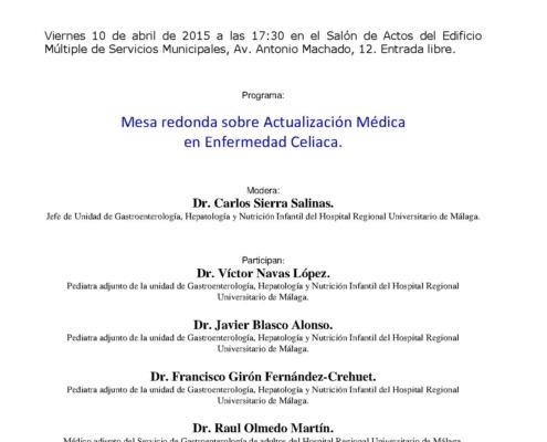 Jornada Actualización Médica en Enfermedad Celiaca